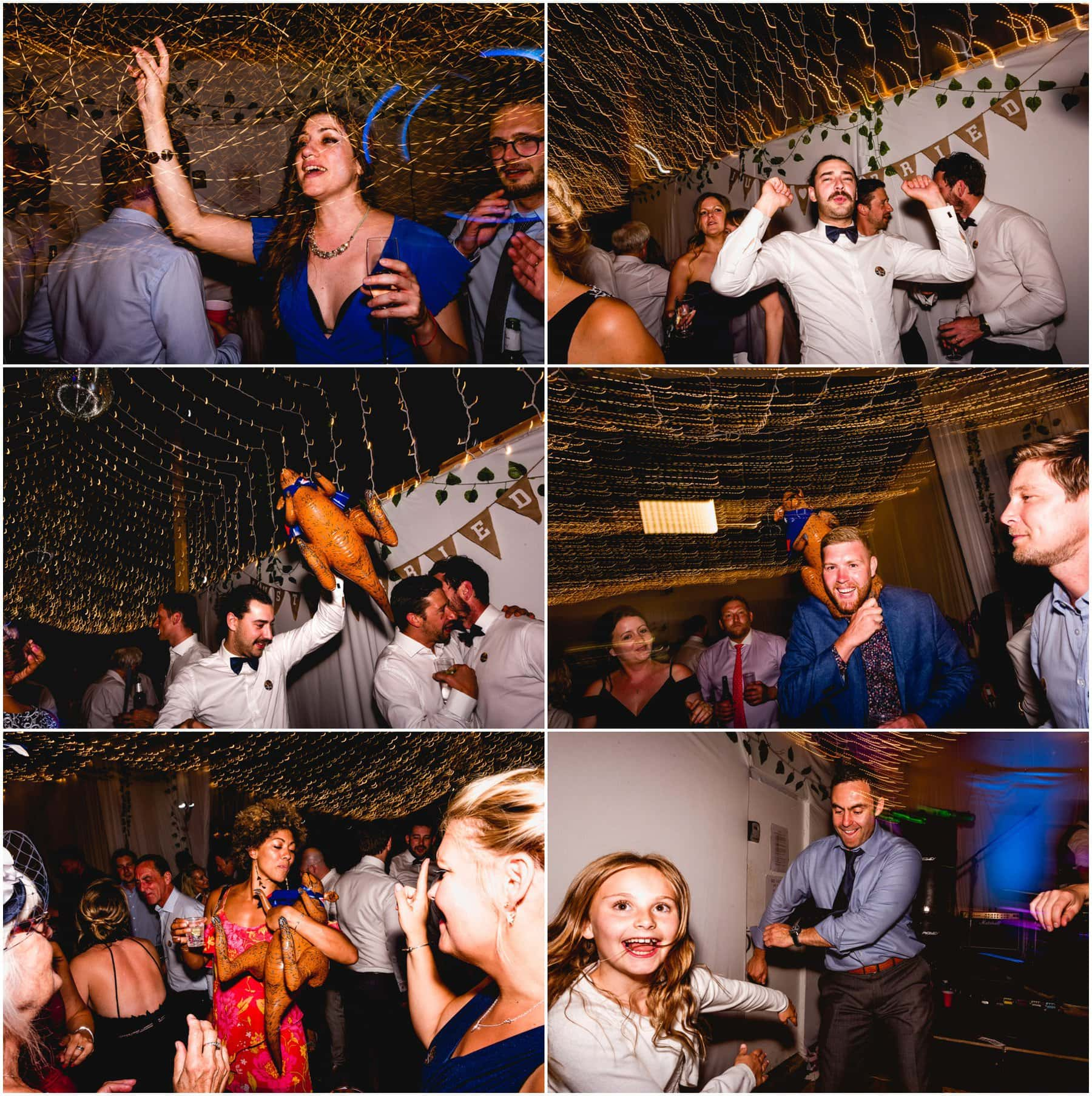 Party photos for Australian and English wedding in Devon.