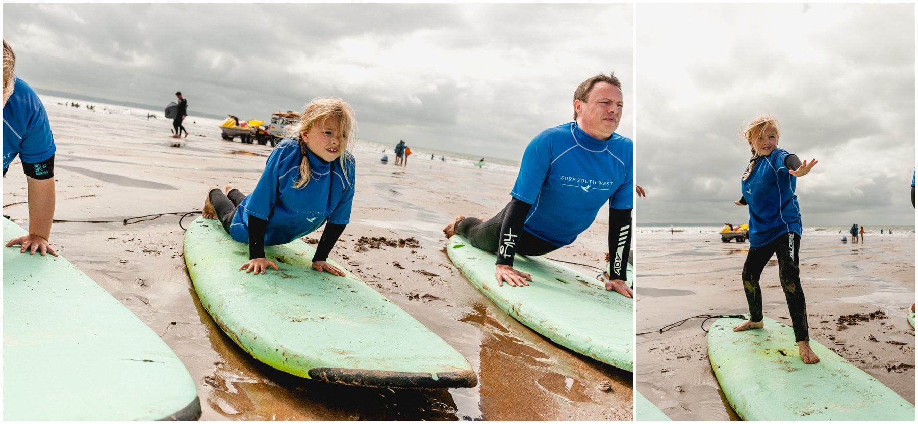 Surfing in Croyde with Surf South West lessons