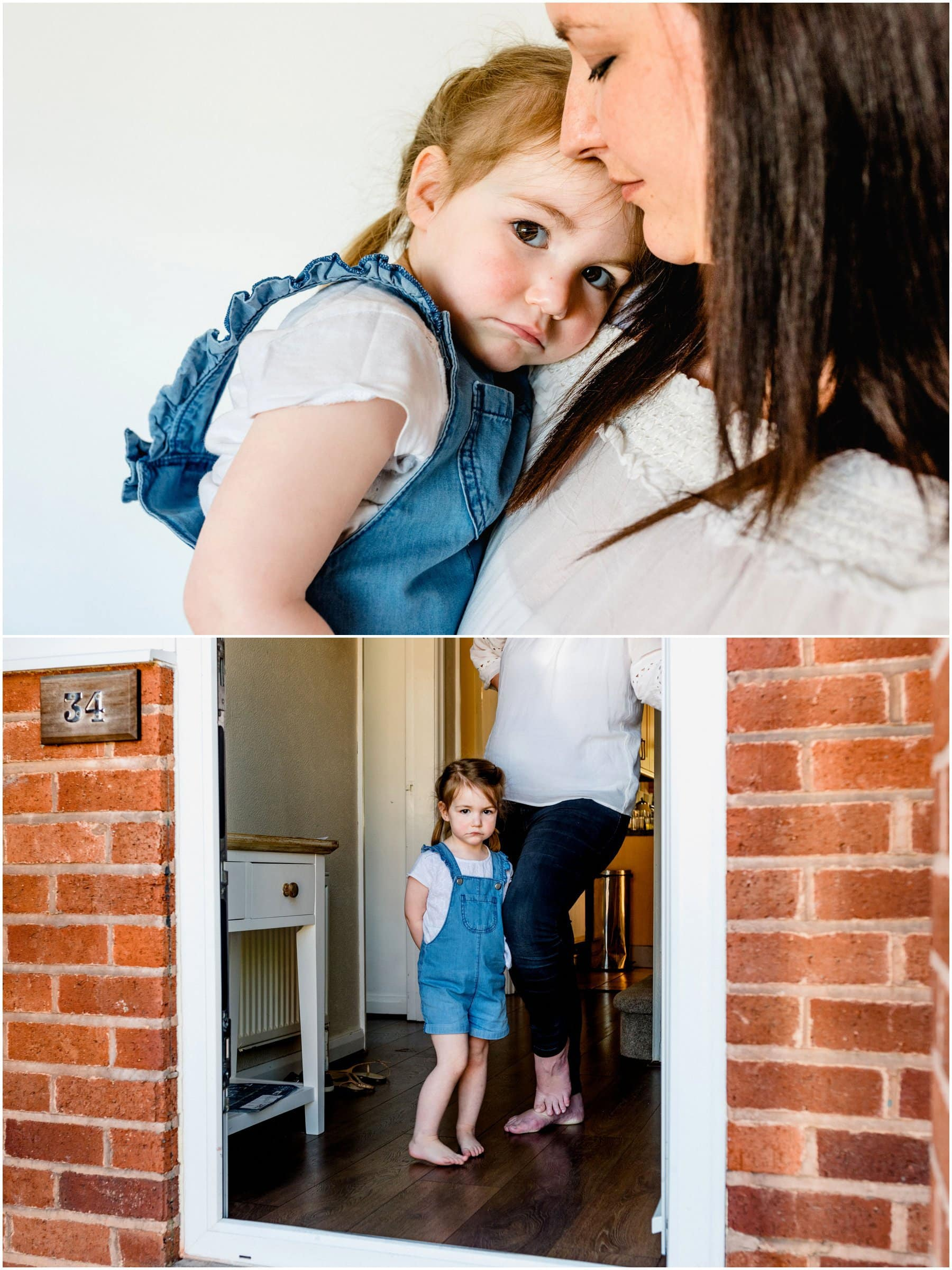 Relaxed family photography at home with 2 children and a newborn